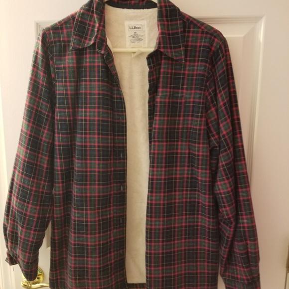 fd2ee7b64e046 L.L.Bean fleece lined flannel womens